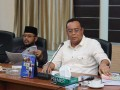 Ketua Pansus LKPj Bupati 2016 M Taufik dan Wakil Ketua Pansus Ady Hermawan memimpin rapat membahas LKPj Bupati Aunur Rafiq untuk tahun anggaran 2016.
