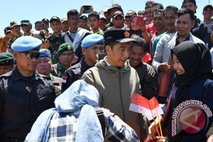 Presiden Joko Widodo Sapa Warga Natuna