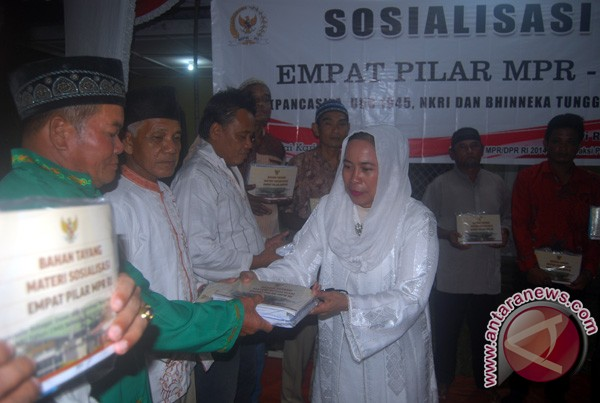 Dwi Ria Sosialisasi Empat Pilar di Karimun