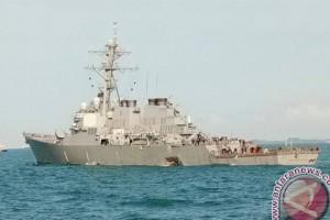 Empat Kapal Perang Sisir Perairan Malaysia-Indonesia