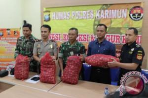 Polres Karimun Amankan Barang Selundupan dari Malaysia