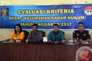 Kemenkumham Tetapkan Empat Desa Sadar Hukum Lingga