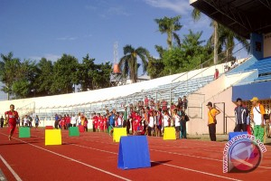 Puluhan Pelajar SD Lampung Ikuti Atletik Bocah