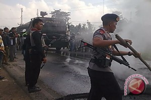 Ratusan personel TNI dan Polri dikerahkan ke Mesuji