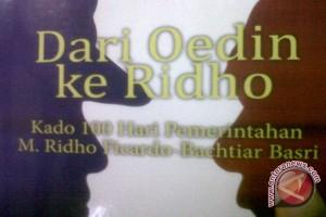Buku 100 Hari Gubernur Ridho Telah Terbit