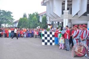 Ribuan warga jalan sehat HUT Lampung Utara