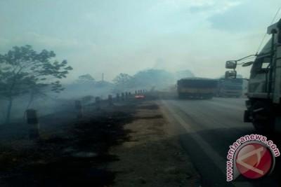 Kebakaran Lahan Mesuji Lampung Ganggu Pengguna Jalintim