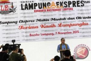 Ketua MPR Hadiri HUT Lampung Ekspres Plus