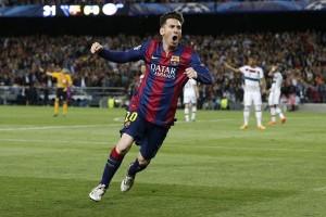Messi Cetak Gol ke-100 Kompetisi Eropa