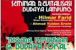 Dikbudpora Metro Gelar Seminar Revitalisasi Budaya Lampung