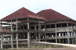 Pembangunan kantor Pemkab Mesuji masih terbengkalai
