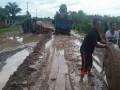 Jalan di Mesuji tambah rusak