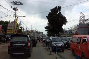 Pemudik diimbau hindari titik kemacetan Pasar Bandarjaya