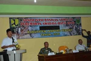 350 Warga Kurang Mampu Di Lampung Tengah Dapat Bantuan Rumah