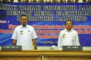 Sekdaprov Lampung: Media bagian penting jalannya pembangunan