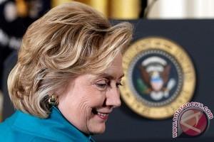 Hillary rayakan malam pemilu di New York