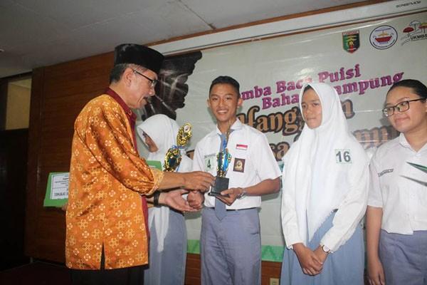 Inilah Para Juara Lomba Baca Puisi Bahasa Lampung