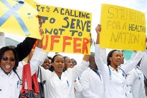 Dokter di Kenya juga unjuk rasa
