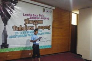 DKL Gelar Lomba Baca Puisi Bahasa Lampung