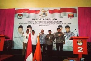 Pendukung Hadiri Debat Kandidat Pilkada Lampung Barat