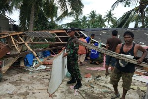 Puting Beliung Landa Dua Desa di Lampung Timur
