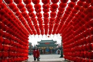 Menjelang Imlek, Beijing berangsur lengang