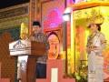 Wali Kota Bandarlampung Herman HN memberikan sambutan pada pembukaan MTQ ke-48 di Lapangan Sukamaju, Kecamatan Telukbetung Timur Bandarlampung, Jumat malam (10/2)   (FOTO: Humas Pemkot Bandarlampung)