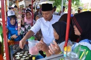 Bupati Lampung Tengah Resmikan Los Wisata Kuliner