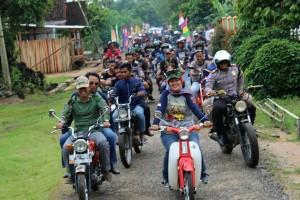 Perayaan HUT CB Club di Lampung Timur