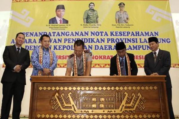 Gubernur Hadiri Kesepakatan Peningkatan Mutu Pendidikan Lampung