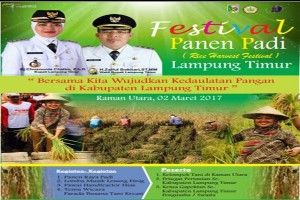 Lampung Timur Siap Gelar Festival Panen Padi