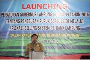 Gubenur Lampung Canangkan Distribusi Pupuk Sistem Penagihan