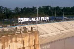 Bendung Gerak Jabung Lampung Timur Selesai Dibangun