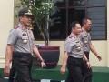 Kapolri Jenderal Tito Karnavian didampingi Kapolda Lampung Irjen Sudjarno mengunjungi Polda Lampung, Jumat (7/4) (ANTARA LAMPUNG/Roy Baskara).