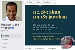 Peminat Sepeda Jokowi Capai 112.283 Akun Facebook