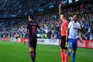 Neymar dikartu merah saat Barca kalah dari Malaga