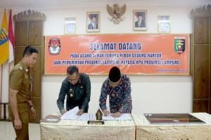 Pemprov Lampung Hibahkan Tanah dan Bangunan Kantor KPU