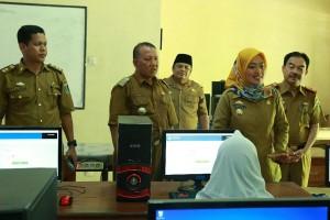 Bupati-wakil Bupati Lampung Timur Pantau Unbk Smp