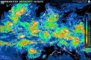 Peningkatan Potensi Hujan Lebat di Indonesia
