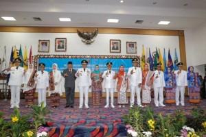 Tiga Bupati di Lampung Dilantik