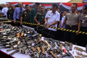 Polda Lampung Musnahkan Barang Bukti Kejahatan