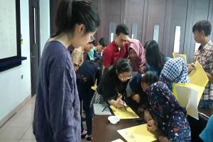 Dosen Tiongkok Ajari Bahasa Mandarin