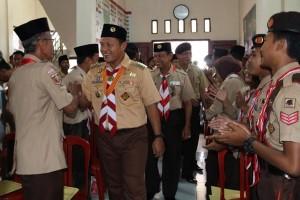 Lampung Tengah Libatkan Pramuka Lancarkan Arus Mudik