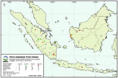 Terdeteksi Sembilan Titik Panas di Lampung