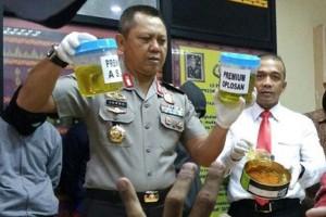 Polda Lampung Ungkap Pengoplosan BBM