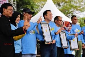 Senam Germas Lampung Raih Rekor MURI