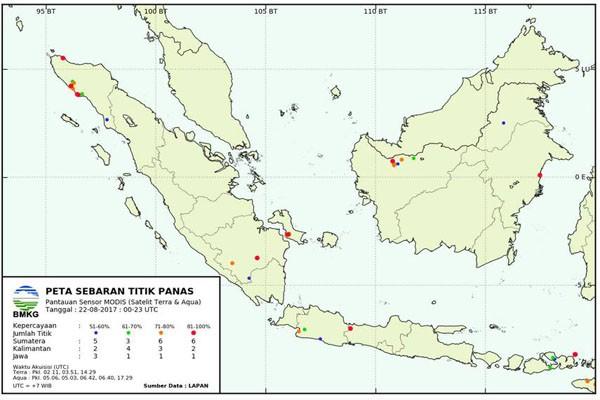 BMKG: Tak Terdeteksi Titik Panas di Lampung