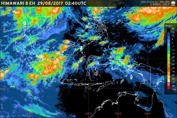 BMKG Lampung Peringatkan Hujan dan Petir