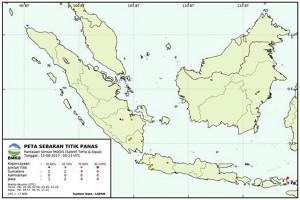 Titik Panas Terpantau di Lampung
