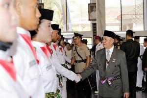 Wagub Lampung Kukuhkan 33 Anggota Paskibraka